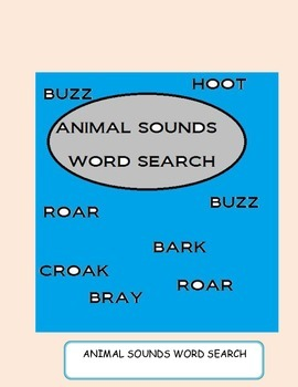 Animal Sounds Word Search