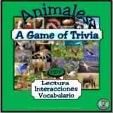 Animal Species Reading and Trivia Game - Un juego de conocimiento