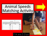 Animal Speeds Activity: Board and Pieces for Matching