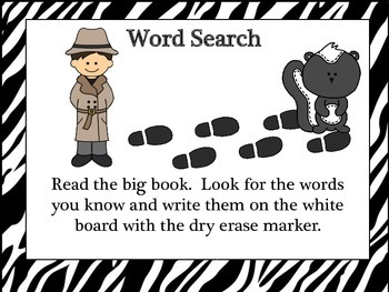 Animal Station - Big Book Word Search Common Core Aligned