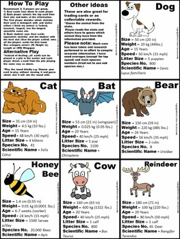 Animals - Research Card Game