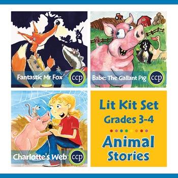 Animal Stories Lit Kit Set - Gr. 3-4