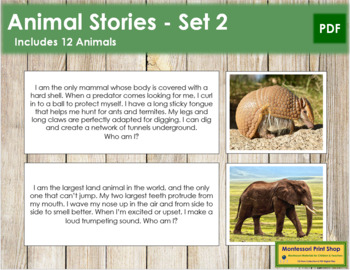 Animal Stories (Set 2) - Montessori