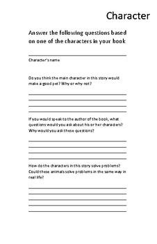Animal Story Book Report