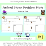 Animal Story Problem Mats  - Subtraction