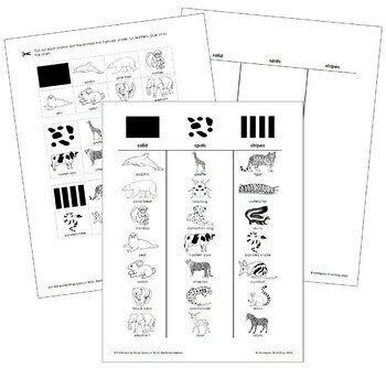 Animal Stripes, Spots, or Solid - Blackline Master