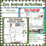 Animal Science Zoo Animals Life Cycle Sequencing  | Printables for Lion, Tiger +