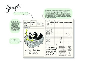 Animal Study and Observation Journal Page