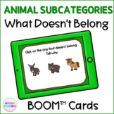 Animals in Categories What Doesn't Belong BOOM Cards™  Digital Activity