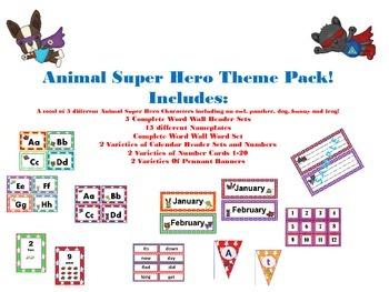 Animal Super Hero Theme Pack