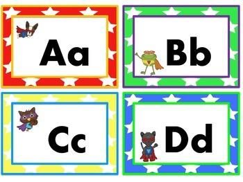 Animal Super Hero Word Wall Headers