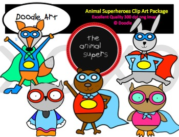 Animal Superheroes Clipart Pack