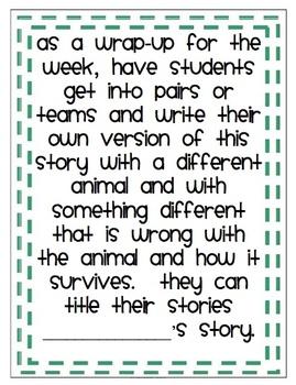 Animal Survival, MMH Treasures 2nd Grade, Unit 4, Week 2