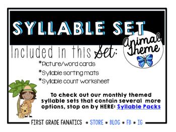 Animal Syllable Set