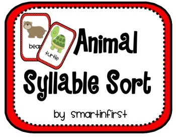Animal Syllable Sort