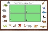 Animal Syllable Sort for the Smart Board