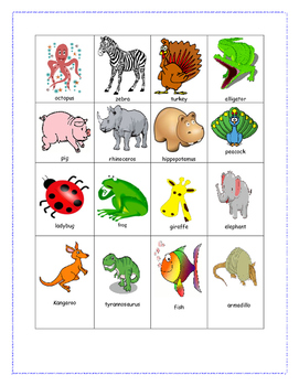 Animal Syllable Sorting Fun