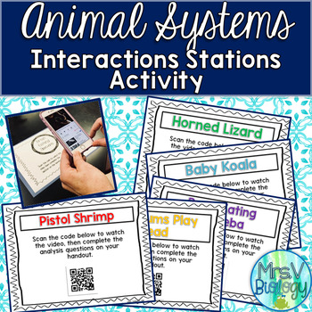 Animal Systems Interactions QR Code Activity