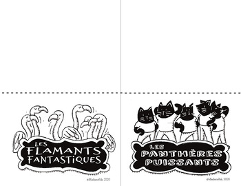 Animal Table Group Signs (French and English)