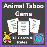 Animal Taboo Game- 32 Cards