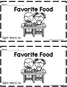 """Favorite Food: A Sight Word Emergent Reader """"no"""""""