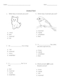 Animal Test - Editable