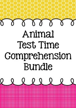 Animal Test Time Comprehension BUNDLE