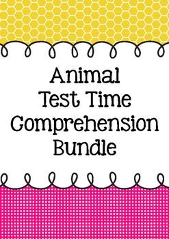 Animal Test Time Comprehension BUNDLE ONE