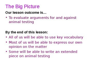Animal Testing - Moral Enquiry and critical thinking