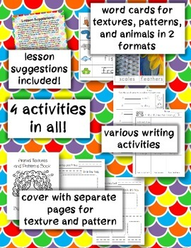 Animal Textures and Patterns Book and Activities