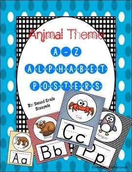 Animal Theme Alphabet Posters