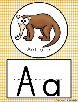 Animal Theme Alphabet Posters
