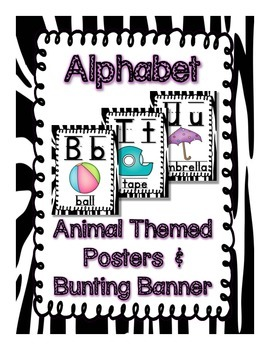Animal Theme Alphabet Posters and Bunting Banners