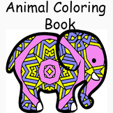 Animal Theme Mandala and Zentangle Designs Coloring Book