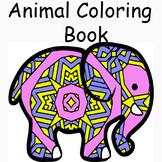 Animal Mandala and Zentangle Designs Coloring Book-51 anim