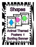 Animal Theme Shapes Posters and Bunting Banners