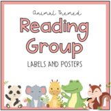 Animal Theme Reading Group Sign Label Posters