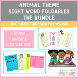 Animal Theme Sight Word Foldable GROWING Bundle: First 400