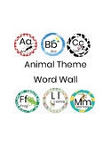 Animal Theme Word Wall Letters