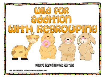 Animal Themed 3-digit and 4-digit Addition with Regrouping Center