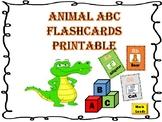 Animal Themed ABC Flashcards Printables