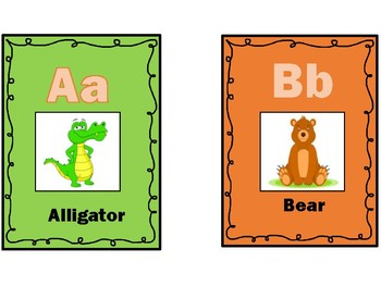 Animal Themed ABC Flashcards Printables
