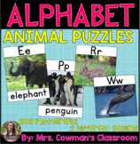 Animal Themed Alphabet Puzzles: Real-Life Photos (A to Z)