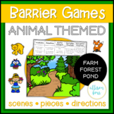 Animal Themed Barrier Games Speech Therapy