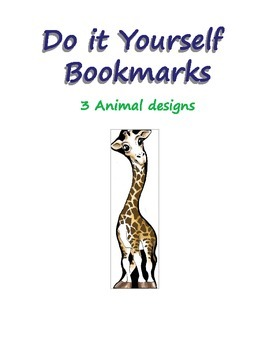 Animal Bookmarks - Print, Cut and Color!