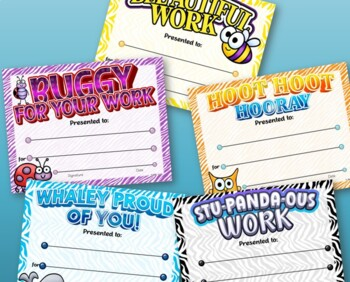 Animal Themed Certificates Pack