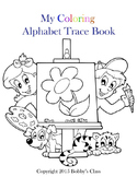 Animal Themed Coloring and Alphabet Trace Workbook
