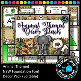 Animal Decor Pack- NSW Foundation Font  ideal for bulletin boards