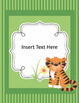 2016-2017 Animal Themed EDITABLE Binder Covers, Spines, an
