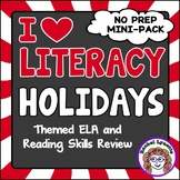 Holiday Themed ELA and Reading Skills Review Mini-Pack - Morning Work